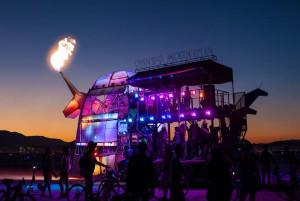 dance disco rave bus coach science fiction sci fi story