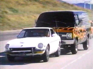 death car on the freeway stunts vehicles action