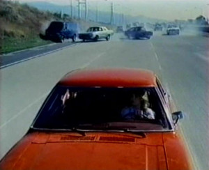 death car on the freeway old school crashes