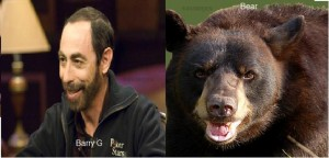 barry greenstein looks like a animal - bear