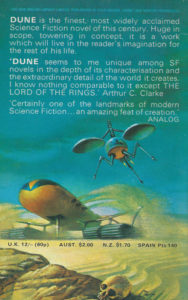 dune book review frank herbert back cover
