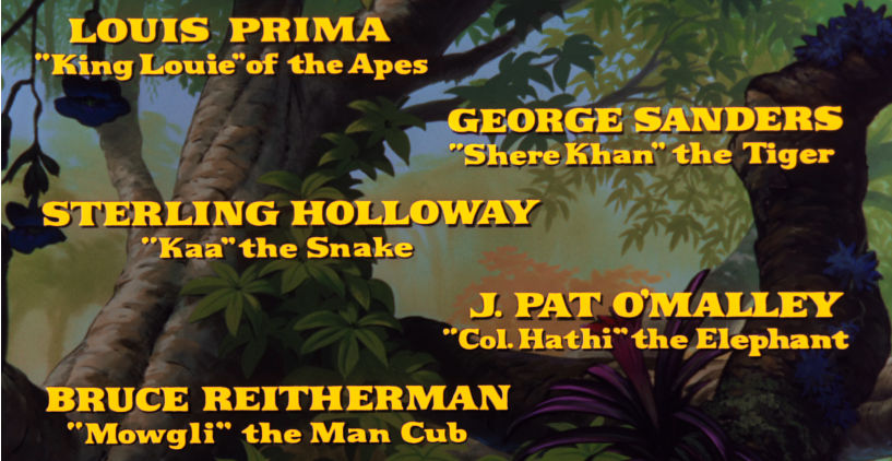 jungle book opening closing credits