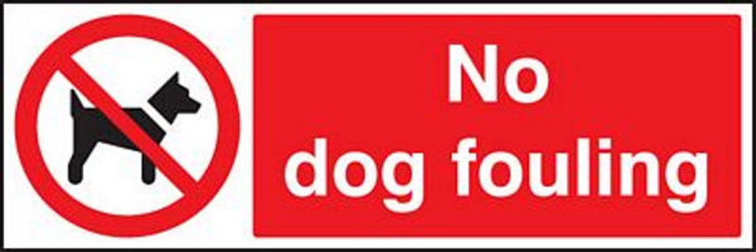 no dog fouling signs