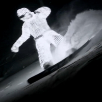 snowboarding night led suit